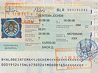 informatie visum wit rusland